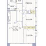 上大岡中里パークホームズ604号室間取り図