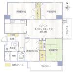 若葉台団地2-23号棟501号室間取り図