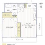 オリンピックマンション第3世田谷502号室間取り図