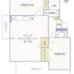 鶴川6丁目団地8-18号棟102号室間取り図(修正)
