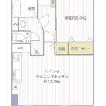 柳町ビル1003号室間取り図