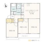 菱興中山マンションA棟501号室間取り図