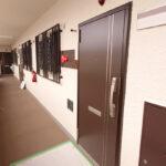 共用部分やお部屋の玄関扉もきれいです。