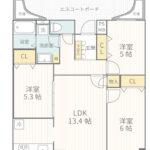 ビッグヴァングランヴァーグ茅ヶ崎205号室間取り図(1)